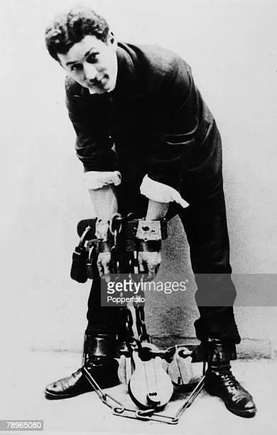 1910's Harry Houdini US magician and escape artist