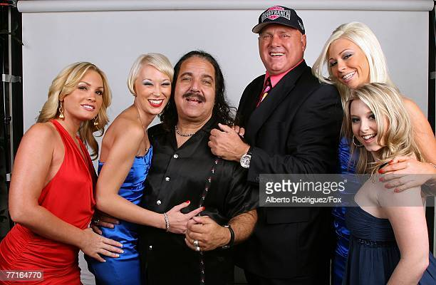 Personalities Flower Tucci, Brooke Taylor, Ron Jeremy, Dennis Hof, Bunny Love, and Sunny Lane pose for a portrait during the 2007 Fox Reality Channel...