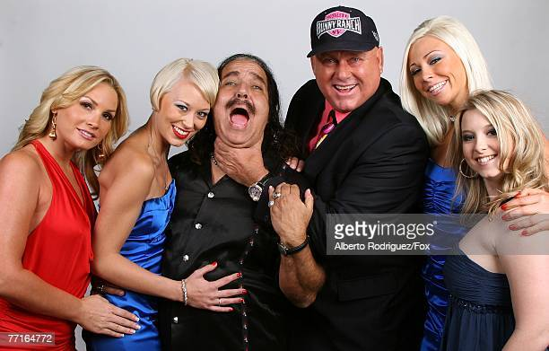 TV personalities Flower Tucci Brooke Taylor Ron Jeremy Dennis Hof Bunny Love and Sunny Lane pose for a portrait during the 2007 Fox Reality Channel...