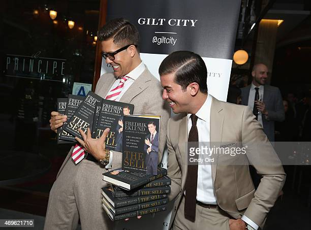 TV personalities Fredrik Eklund and Luis D Ortiz attend the Gilt City celebration of Eklund's new book 'The Sell The Secrets Of Selling Anything To...