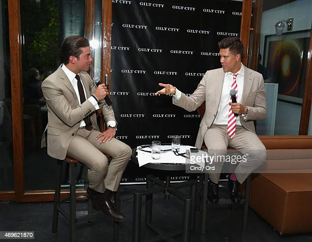 TV personalities Fredrik Eklund and Luis D Ortiz speak during the Gilt City celebration of Eklund's new book 'The Sell The Secrets Of Selling...