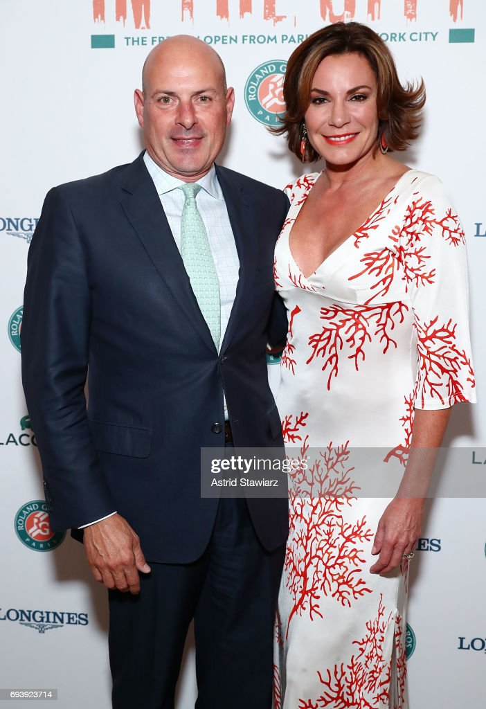 TV personalities from 'The Real Housewives of New York City' Tom D'Agostino Jr. and Luann D'Agostino attend the Roland-Garros reception at French Consulate on June 8, 2017 in New York City.
