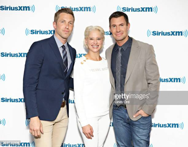 TV personalities Gage Edward Dorinda Medley and Jeff Lewis visit the SiriusXM Studios on June 8 2018 in New York City