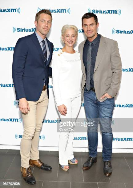 TV personalities Gage Edward Dorinda Medley and Jeff Lewis visit the SiriusXM Studios on June 8 2018 in New York City