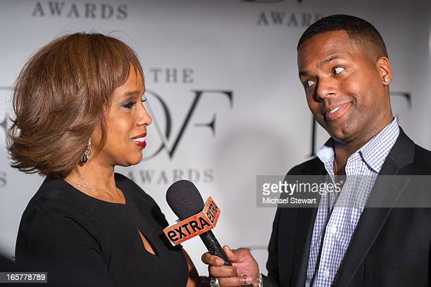 TV personalities Gayle King and AJ Calloway attend the 2013 DVF Awards at the United Nations on April 5 2013 in New York City