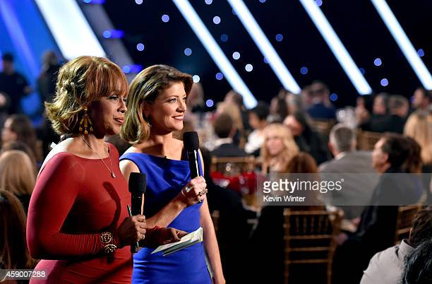 TV personalities Gayle King and Norah O'Donnell speak during the 18th Annual Hollywood Film Awards at The Palladium on November 14 2014 in Hollywood...