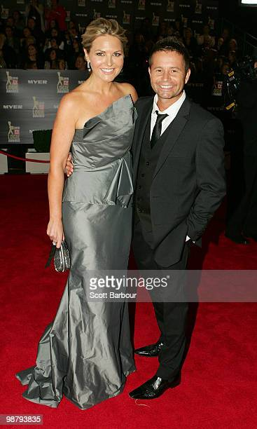 TV personalities Georgie Gardner and Steven Jacobs arrive at the 52nd TV Week Logie Awards at Crown Casino on May 2 2010 in Melbourne Australia