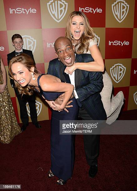 Personalities Giada De Laurentiis, Al Roker and Maria Menounos attends the 14th Annual Warner Bros. And InStyle Golden Globe Awards After Party held...