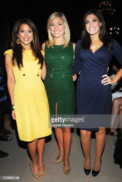 TV Personalities Gigi Stone Ainsley Earhardt and Kimberly Guilfoyle attend the Douglas Hannant Spring 2012 fashion show during MercedesBenz Fashion...