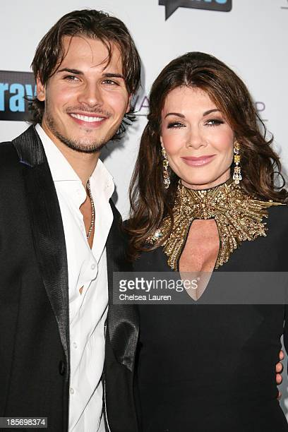 TV personalities Gleb Savchenko and Lisa Vanderpump arrive at 'The Real Housewives Of Beverly Hills' and 'Vanderpump Rules' premiere party at...