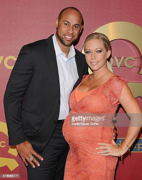 Personalities Hank Baskett and Kendra Wilkinson arrive at the QVC 5th Annual Red Carpet Style event at The Four Seasons Hotel on February 28, 2014 in...