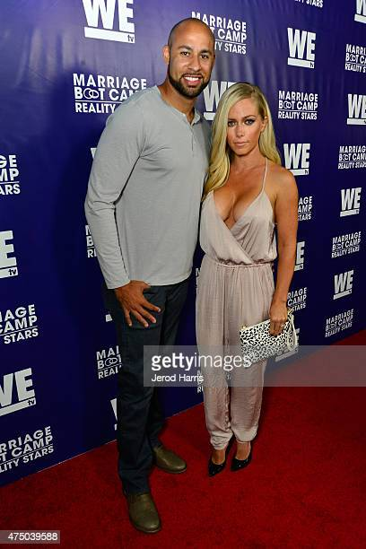 TV personalities Hank Baskett and Kendra Wilkinson attend the premiere party for the third season of Marriage Boot Camp Reality Stars hosted by WE tv...