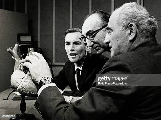 Personalities Health/ Heart Surgery pic 27th December 1967 Washington USA Dr Christian Barnardleft pictured with Dr Michael De Bakey centre and...