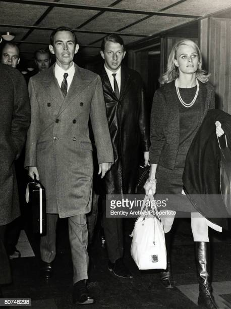 Personalities Health/ Heart Surgery pic 31st January 1968 Dr Christian Barnard arrives at London Airport with Miss Cathy Bicton Christian Barnard...