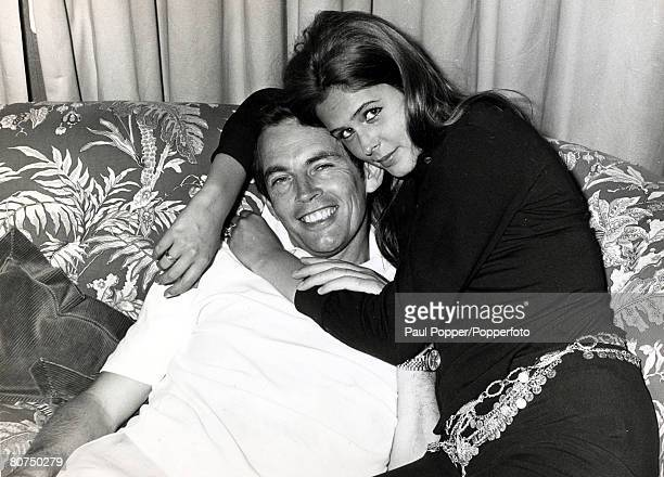 Personalities Health/ Heart Surgery pic January 1970 Cape Town Dr Christian Barnard pictured with his fiance Barbara Zoellner the daughter of Dr F...