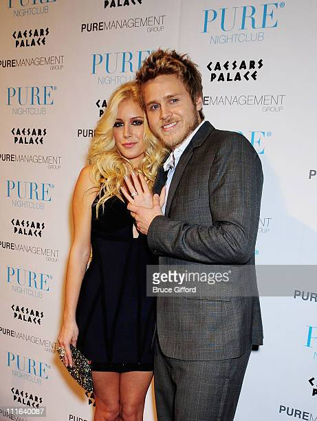 "Personalities Heidi Montag and Spencer Pratt arrive at ""PUREfection"" New Years Eve Party an Evening at PURE Nightclub inside Caesars Palace Hotel and..."