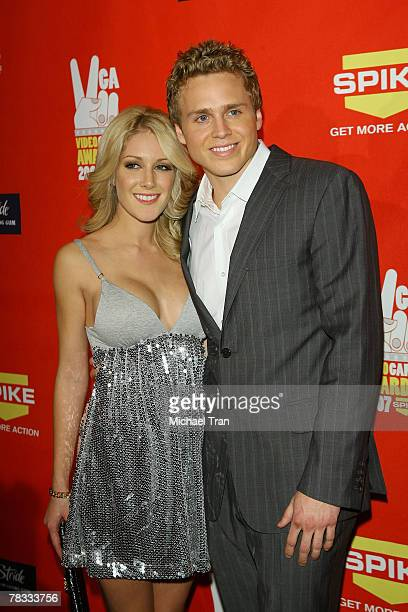 Personalities Heidi Montag and Spencer Pratt arrive at Spike TV's 5th Annual Video Game Awards held at Mandalay Bay Events Center on December 7 2007...