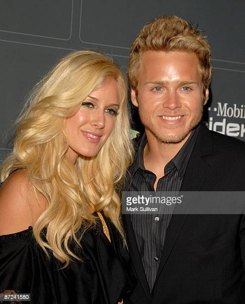 TV personalities Heidi Montag and Spencer Pratt arrive at the TMobile Sidekick LX Launch held at Paramount Studios on May 14 2009 in Hollywood...