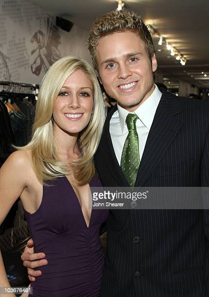 "Personalities Heidi Montag and Spencer Pratt attend the launch of ""La La Land"" by Anchor Blue on the 3rd Street Promenade on November 16, 2007 in..."