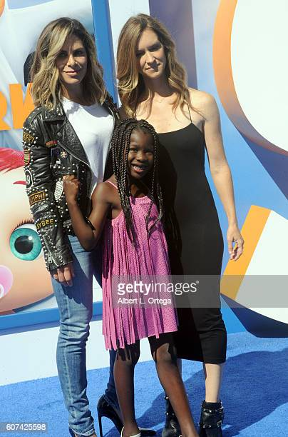 Personalities Heidi Rhoades Phoenix Michael Rhoades Jillian Michaels and Lukensia Michaels Rhoades arrive for the Premiere Of Warner Bros Pictures'...