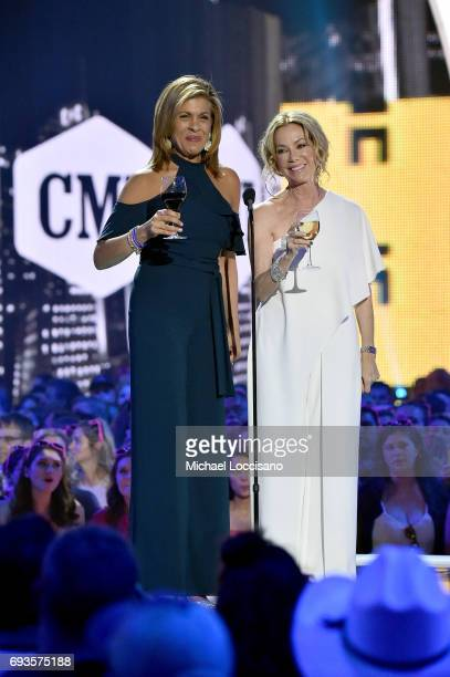 Personalities Hoda Kotb and Kathie Lee Gifford speak onstage during the 2017 CMT Music Awards at the Music City Center on June 6, 2017 in Nashville,...