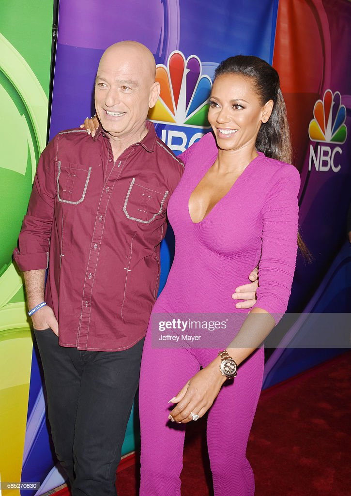 TV personalities Howie Mandel (L) and Mel B attend the 2016 Summer TCA Tour - NBCUniversal Press Tour at the Beverly Hilton Hotel on August 2, 2016 in Beverly Hills, California.