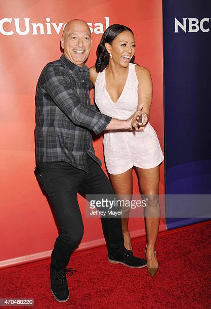 Personalities Howie Mandel; Mel B attends the 2015 NBCUniversal Summer Press Day held at the The Langham Huntington Hotel and Spa on April 02, 2015...