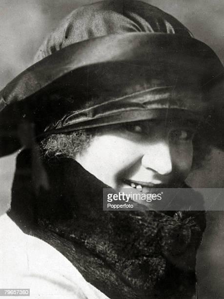 circa 1920's Rachele Guidi Signora Mussolini the wife of the Italian Dictator Benito Mussolini
