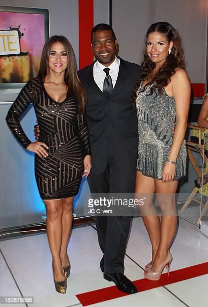 TV Personalities Jackie Guerrido Carlos Alvarez and Fernanda Kelly attend KMEX Univision 34 50th Anniversary Celebration at The Roosevelt Hotel on...