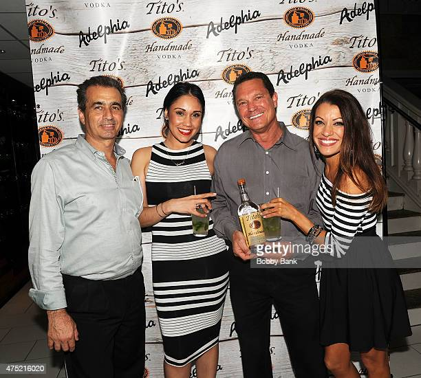Personalities Jaclyn Methuen and Jessica Castro from 'Married At First Sight' attends Tito's Vodka Tasting Event at Adelphia Restaurant on May 29...