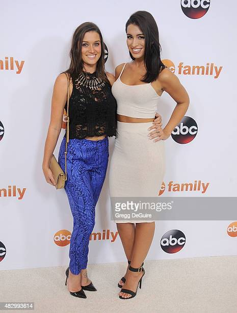 TV personalities Jade Roper and Ashley Iaconetti arrive at the Disney ABC Television Group's 2015 TCA Summer Press Tour on August 4 2015 in Beverly...
