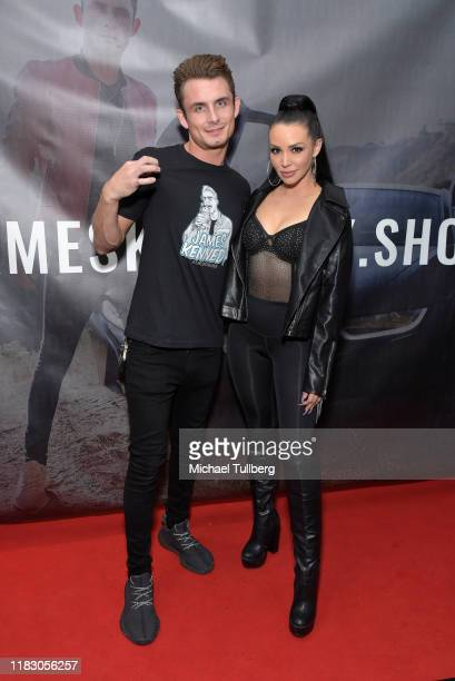 TV personalities James Kennedy and Scheana Shay attend the Los Angeles launch party for JamesKennedyshop at SUR Lounge on October 23 2019 in Los...