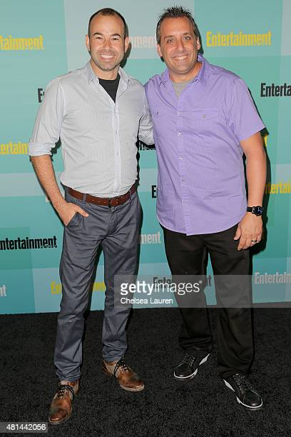 TV personalities James Murray and Joe Gatto arrive at the Entertainment Weekly celebration at Float at Hard Rock Hotel San Diego on July 11 2015 in...
