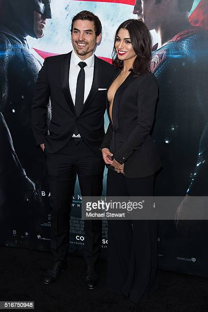 TV personalities Jared Haibon and Ashley Iaconetti attend the Batman V Superman Dawn Of Justice New York premiere at Radio City Music Hall on March...