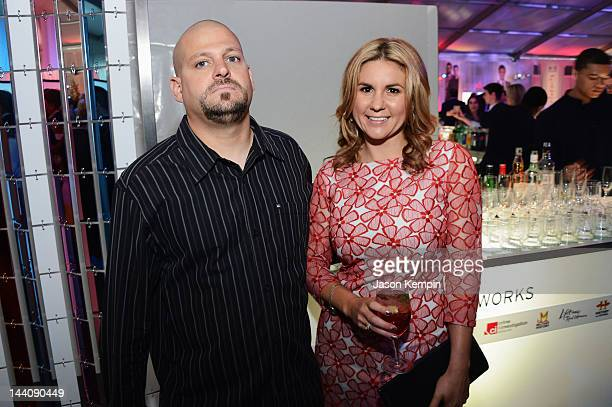 Personalities Jarrod Schulz and Brandi Passante attend AE Networks 2012 Upfront at Lincoln Center on May 9 2012 in New York City