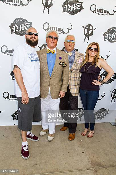 TV personalities Jarrod Schulz Mark Harris Matt Harris and Brandi Passante arrive at the Storage Wars Season 4 Premiere Party at Now Then on March 8...