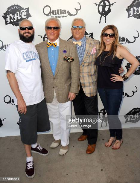 TV personalities Jarrod Schulz Mark Harris Matt Harris and Brandi Passante attend the Premiere Party For Storage Wars Season 4 held at Now and Then...