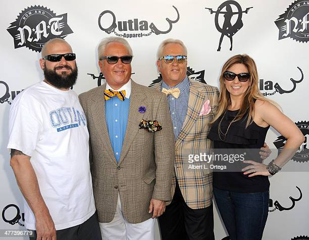 TV personalities Jarrod Schulz Mark Harris Matt Harris and Brandi Passante attends the Premiere Party For Storage Wars Season 4 held at Now and Then...