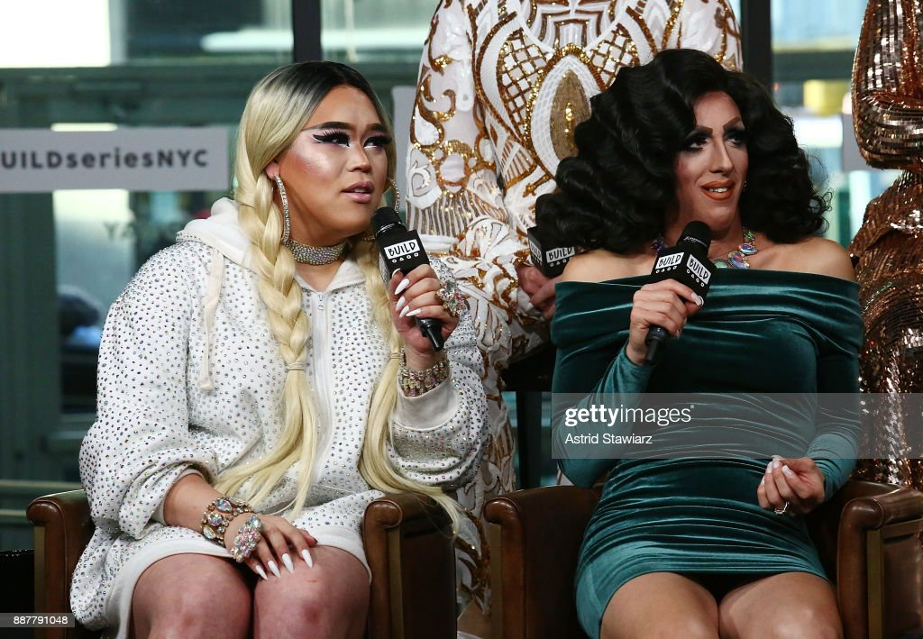 TV personalities Jasmine Rice LaBeija and Marti Gould Cummings discusse 'Shade: Queens Of NYC' at Build Studio on December 7, 2017 in New York City.