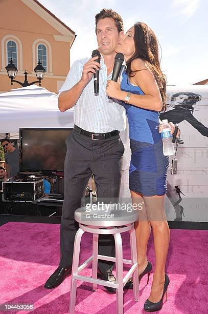 TV personalities Jason Hoppy and Bethenny Frankel on stage at the Real Style Live event at Tanger Outlets on September 25 2010 in Deer Park New York