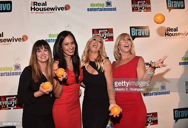 TV personalities Jeana Keough Jo De La Rosa Lauri Peterson and Vicki Gunvalson attend the premiere party for Bravo's The Real Housewives of Orange...