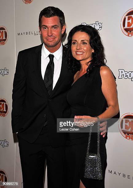 TV personalities Jeff Lewis and Jenni Pulos arrive at the 13th Annual Entertainment Tonight and People Magazine Emmys After Party at the Vibiana on...