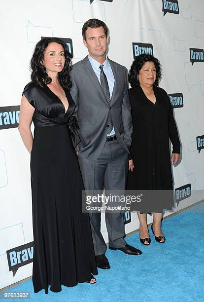 TV personalities Jenni Pulos Jeff Lewis and Zoila Chavez of Flipping Out attend Bravo's 2010 Upfront Party at Skylight Studio on March 10 2010 in New...