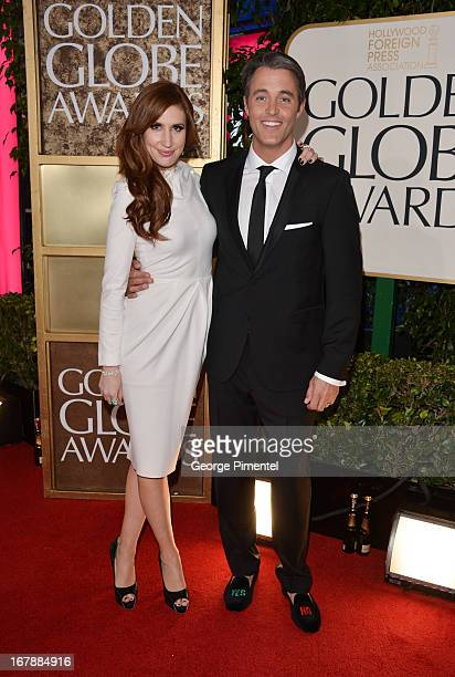 Personalities Jessi Cruickshank and Ben Mulroney arrive at the 70th Annual Golden Globe Awards held at The Beverly Hilton Hotel on January 13 2013 in...