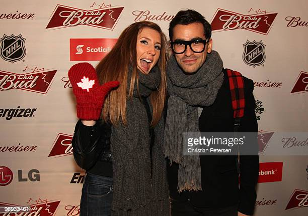 TV personalities Jessica Cruishank and Dan Levy attend the Club Bud NHL Party at the Commodore Ballroom on February 20 2010 during the Olympic Winter...
