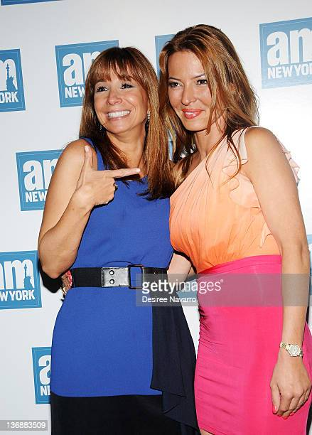 TV personalities Jill Zarin and Drita D'avanzo attend a welcome party for new amNewYork columnists at The Chelsea Room on May 18 2011 in New York City