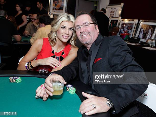TV personalities Jim Bellino and Alexis Bellino attend Los Angeles Police Memorial Foundation's Celebrity Poker Tournament at Saban Theatre on April...