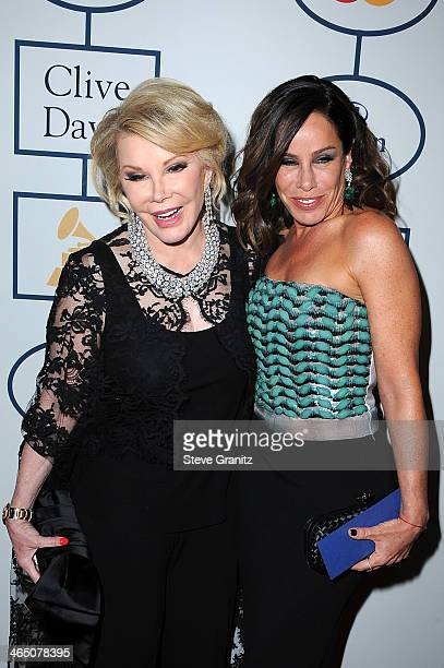 TV personalities Joan Rivers and Melissa Rivers attend the 56th annual GRAMMY Awards PreGRAMMY Gala and Salute to Industry Icons honoring Lucian...