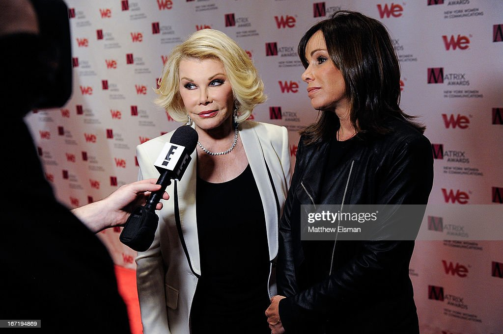 TV personalities Joan Rivers (L) and Melissa Rivers attend the New York Women In Communications 2013 Matrix Awards at The Waldorf Astoria on April 22, 2013 in New York City.