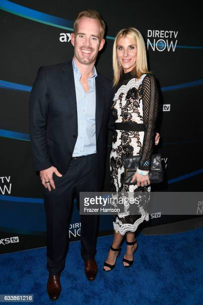 TV personalities Joe Buck and Michelle Beisner attend the 2017 DIRECTV NOW Super Saturday Night Concert at Club Nomadic on February 4 2017 in Houston...